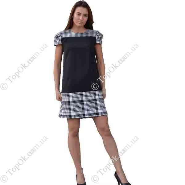 Купить Платье чёрное + клетка САДОВСКАЯ ТАТЬЯНА (Sadovska)