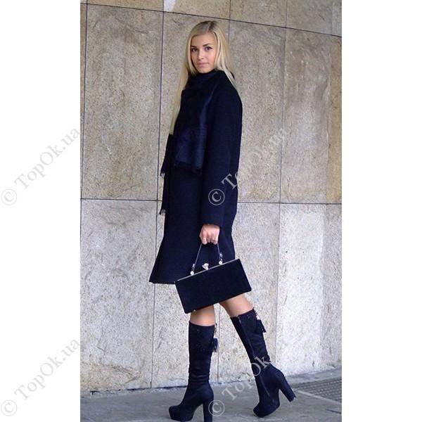 Купить Черное пальто с орнаментом от Reform РЕФОРМ (Reform)