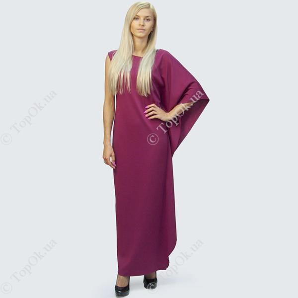 Купить Длинное бордовое платье с фалдами РЕФОРМ (Reform)