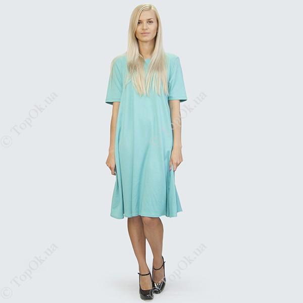 Купить Голубое легкое платье солнце клеш РЕФОРМ (Reform)