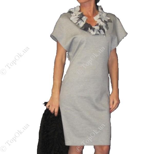 Купить платье серый трикотаж БАБИНА-РОВИШЕНА (Babina-Rovishena)