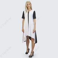 Купить Платье черно-белое с полоской РЕФОРМ (Reform)