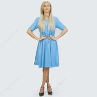 Купить Голубое платье солнце клеш РЕФОРМ (Reform)