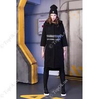 Купить  Пальто черное кож лампасы СКЛИФОС (SKLIFOS)
