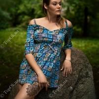 Купить Платье восточный принт АННА ТИМ (Anna Tim)