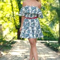 Купить Платье Листья Монстеры АННА ТИМ (Anna Tim)