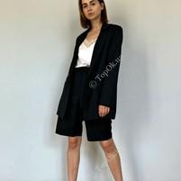 Купить Пиджак черного цвета в мелкую полоску КСЕНИЯ ДРАГАН (K@K)