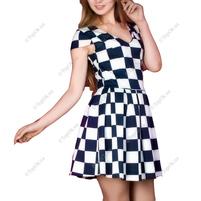 Купить Платье с геометрическим принтом АННА ТИМ (Anna Tim)
